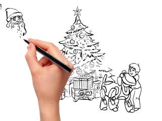 дудл, doodle, видеоролик. финвал. для компании. заказать. поздравительный. видео. мультфильм. мультик. на заказ.