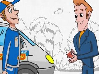 Нарисованный 2D видео ролик для рекламы строительного магазина компании Новый дом, Воронеж